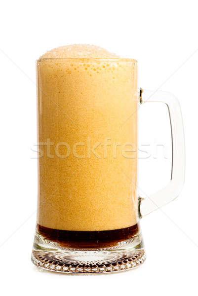 Bière verre sombre blanche eau alimentaire Photo stock © AGorohov
