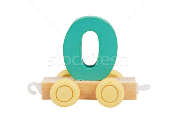 Wooden toy number 0 Stock photo © AGorohov