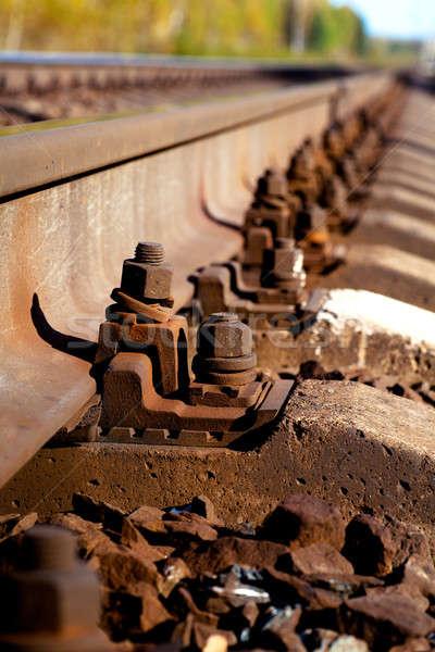 Demiryolu görmek soyut Metal Stok fotoğraf © AGorohov
