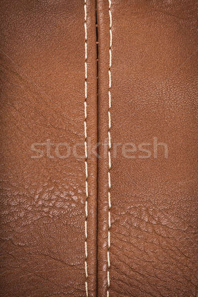 Seam on a leather Stock photo © AGorohov