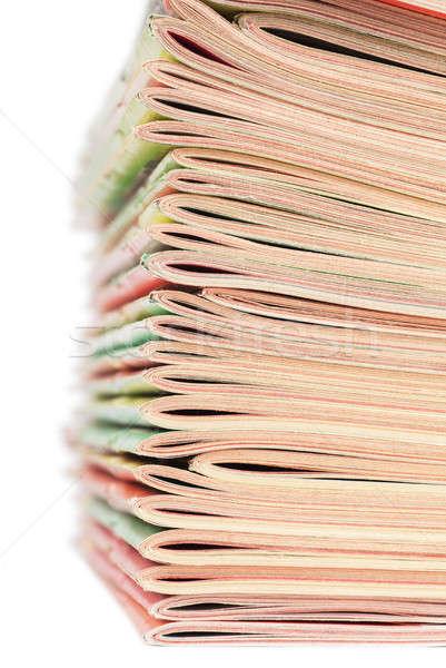 Halom magazinok közelkép kilátás boglya iroda Stock fotó © AGorohov