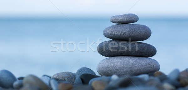 Stenen zee schoonheid rock leven Stockfoto © AGorohov