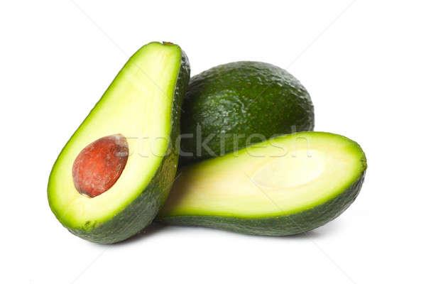 Avocado vers vruchten geïsoleerd witte kruis Stockfoto © AGorohov