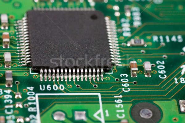 Eletrônico circuito macro ver computador estrada Foto stock © AGorohov