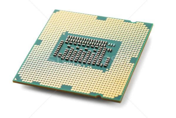 Central procesador unidad macro vista microchip Foto stock © AGorohov