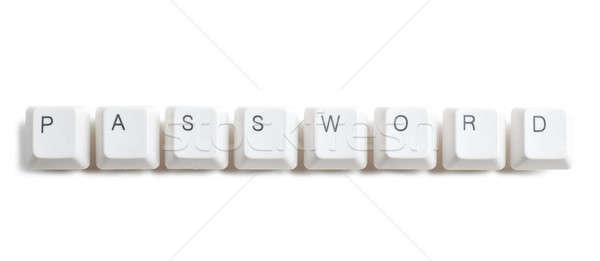 Mot de passe touches mot écrit ordinateur boutons Photo stock © AGorohov
