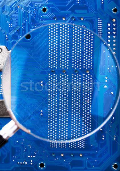 Loupe affaires travaux technologie réseau Photo stock © AGorohov