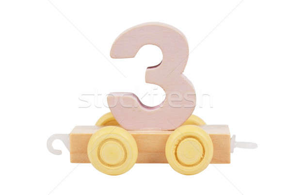 Wooden toy number 3 Stock photo © AGorohov