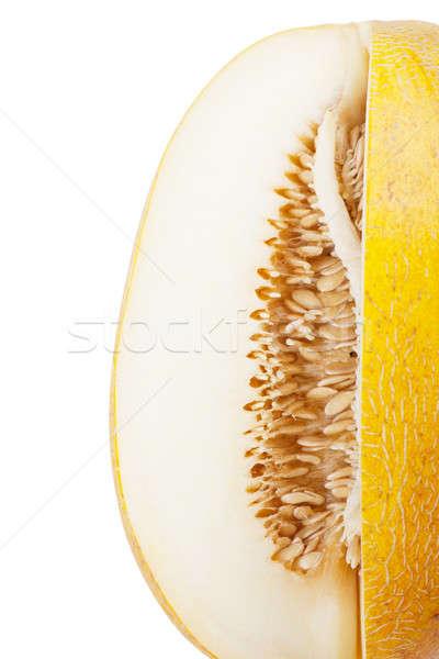 Melón muchos semillas blanco alimentos Foto stock © AGorohov