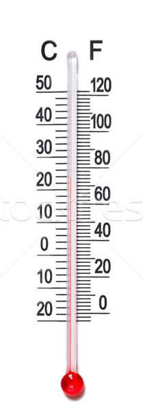 Termômetro escala macro ver isolado branco Foto stock © AGorohov