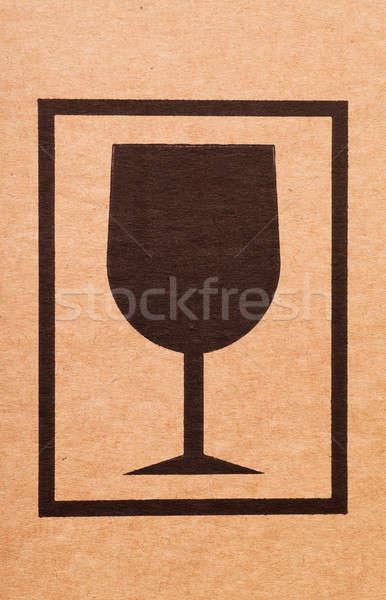 Karton felirat kartondoboz háttér doboz bolt Stock fotó © AGorohov