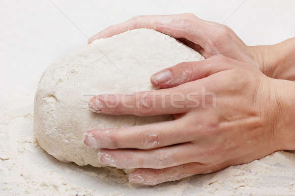 Kneading dough Stock photo © AGorohov