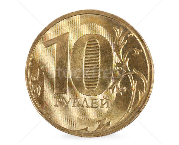 Munt gezicht waarde tien geld achtergrond Stockfoto © AGorohov