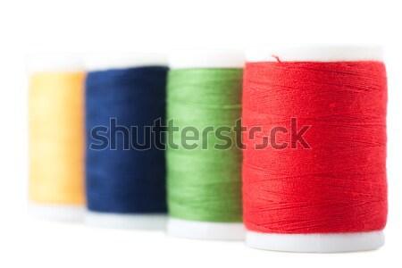 スレッド 4 緑 黄色 青 赤 ストックフォト © AGorohov