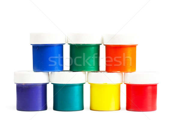 Görmek renkli boya arka plan Stok fotoğraf © AGorohov
