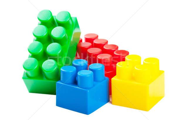 Plastic building blocks Stock photo © AGorohov