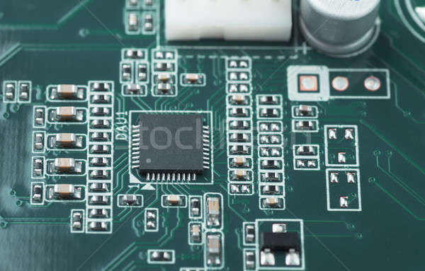 Printplaat macro microchip business werk Stockfoto © AGorohov