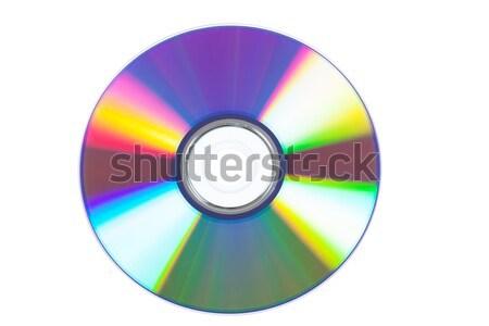 Optische Festplatte Makro Ansicht farbenreich Reflexionen Stock foto © AGorohov