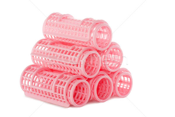 Pink hair rollers Stock photo © AGorohov