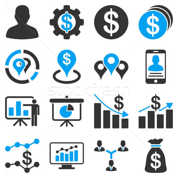 Banking business and charts icons. Stock photo © ahasoft