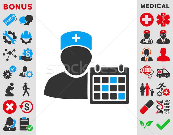 Orvos találkozó ikon vektor stílus szimbólum Stock fotó © ahasoft