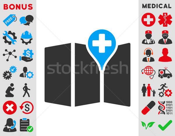 Medical Map Icon Stock photo © ahasoft