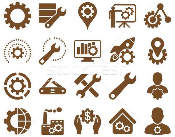 Herramientas iconos vector establecer estilo Foto stock © ahasoft