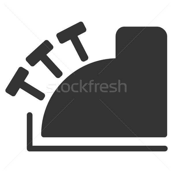 Kassa vector icon grijs interface stijl Stockfoto © ahasoft