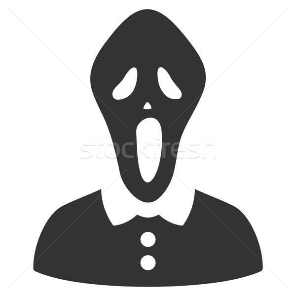 Horror vector icon grijs interface pictogram Stockfoto © ahasoft