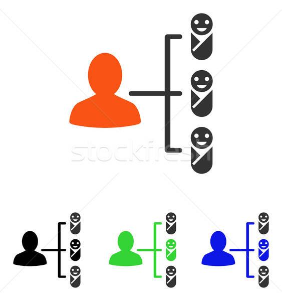Children Links Flat Vector Icon Stock photo © ahasoft