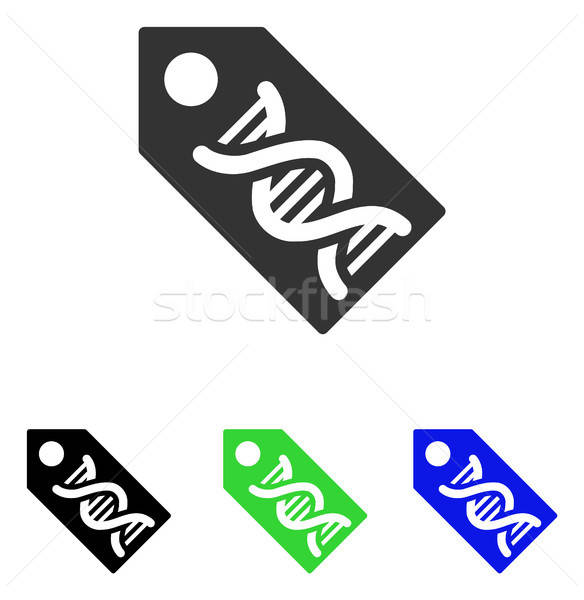 DNA Marker Flat Vector Icon Stock photo © ahasoft