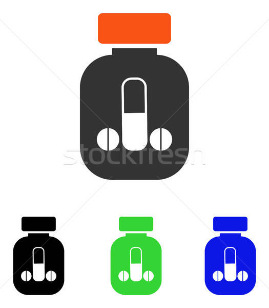 Male Medicine Flat Vector Icon Stock photo © ahasoft
