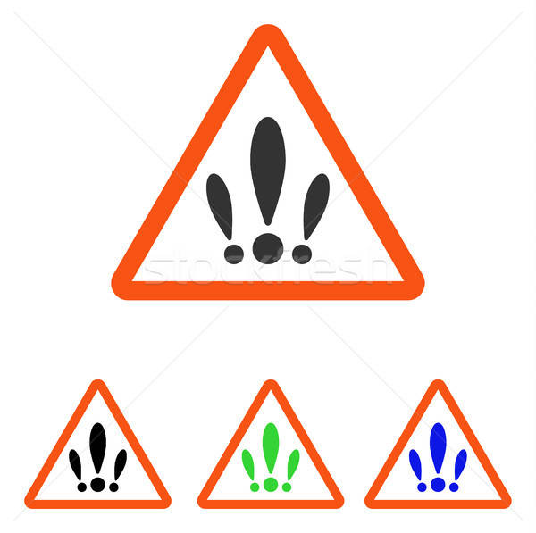 Multiple Problems Flat Vector Icon Stock photo © ahasoft