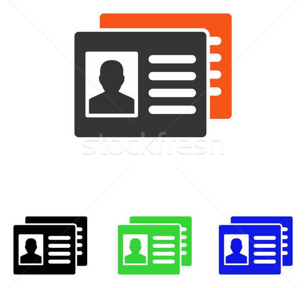 Patient Accounts Flat Vector Icon Stock photo © ahasoft
