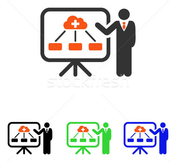 Health Care System Report Flat Vector Icon Stock photo © ahasoft