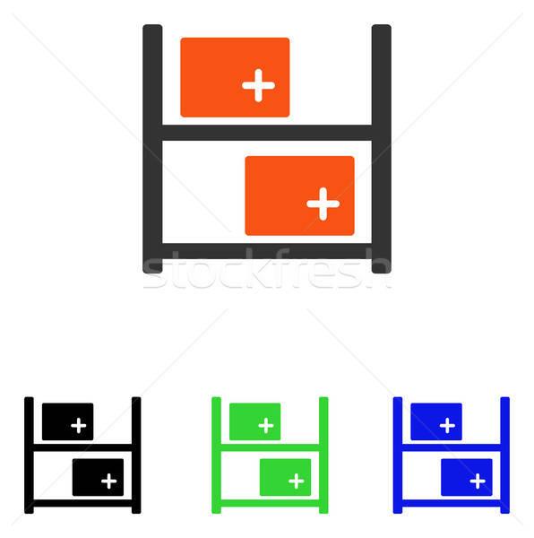 Medici magazzino vettore icona pittogramma illustrazione Foto d'archivio © ahasoft
