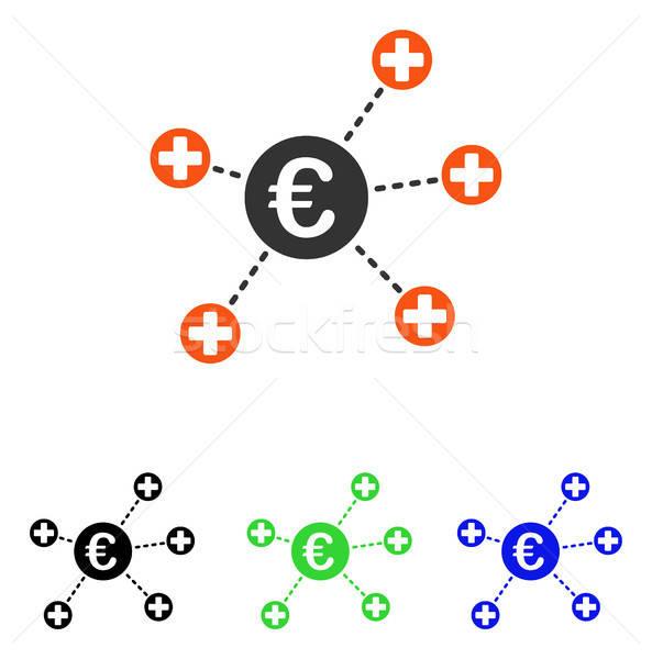 Euro Medical Links Flat Vector Icon Stock photo © ahasoft
