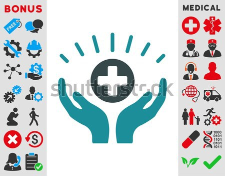 Medical Fund Care Hands Flat Vector Icon Stock photo © ahasoft