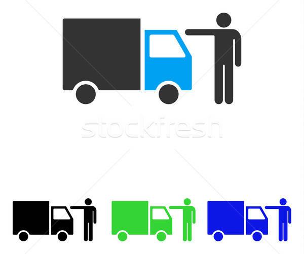 トラック 顧客 ベクトル アイコン 実例 スタイル ストックフォト © ahasoft