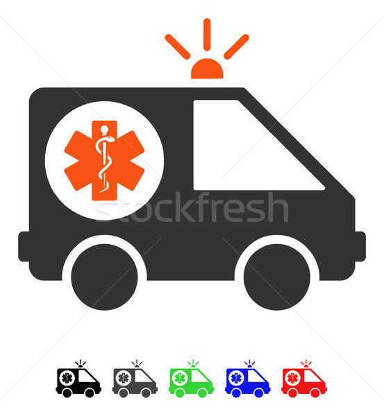 Krankenwagen Auto Symbol Vektor Farbe Stock foto © ahasoft