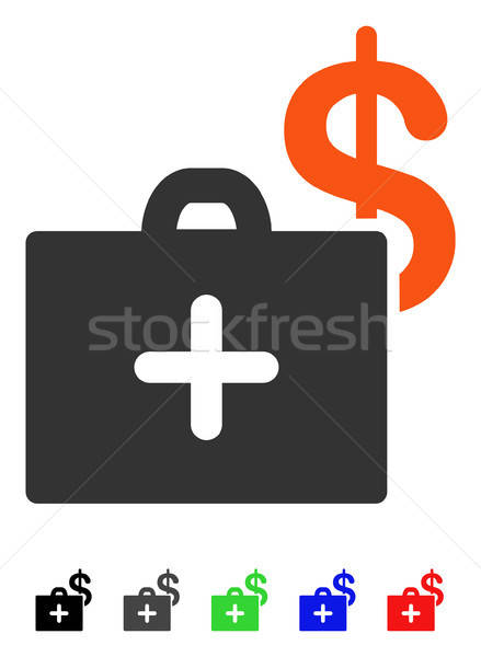 Medical Fund Case Flat Icon Stock photo © ahasoft