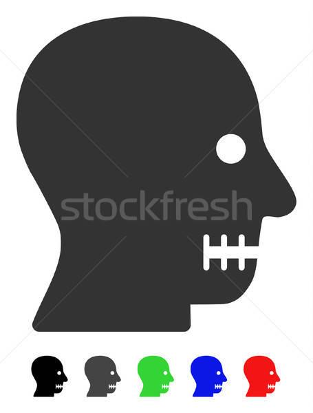 рот икона цвета черный серый Сток-фото © ahasoft