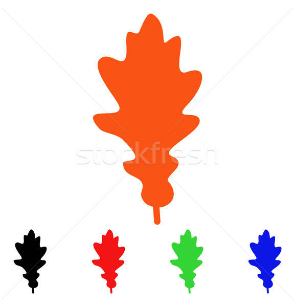 Oak Leaf Vector Icon Stock photo © ahasoft