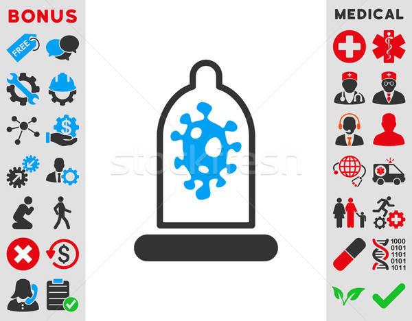 Zakażenie ochrony ikona wektora stylu symbol Zdjęcia stock © ahasoft