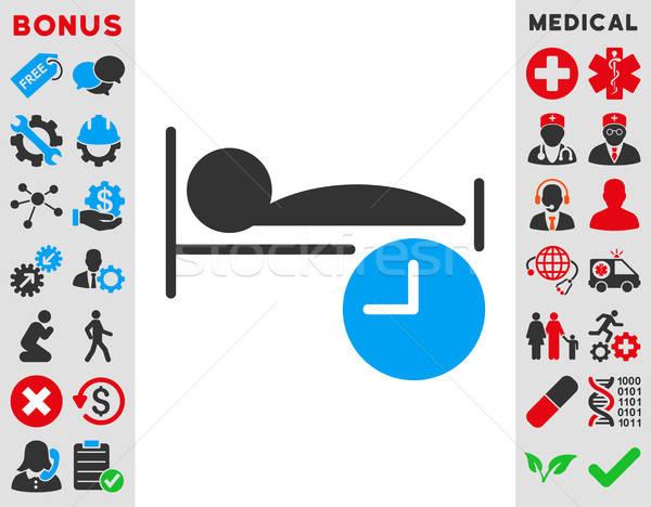 Alszik idő ikon vektor ikon stílus szimbólum Stock fotó © ahasoft