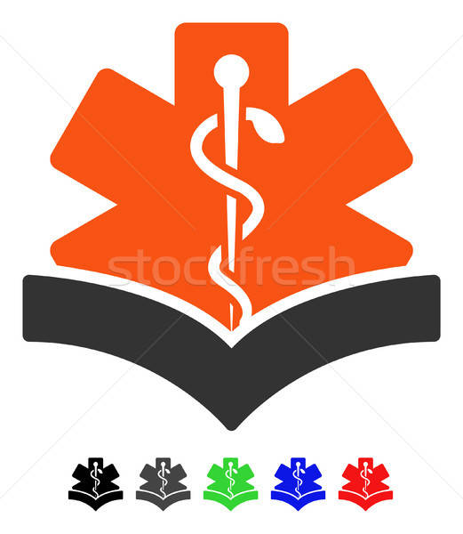 Stock photo: Medical Knowledge Flat Icon