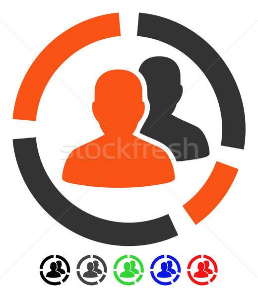 Patient Diagram Flat Icon Stock photo © ahasoft