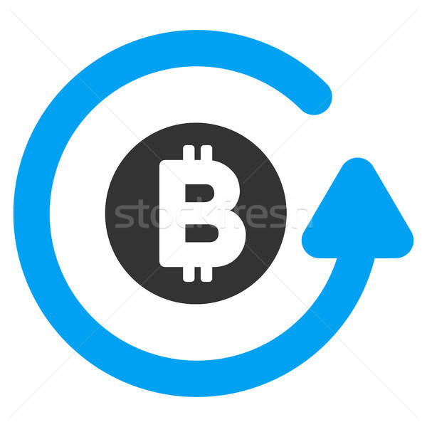 Bitcoin Chargeback Flat Icon Stock photo © ahasoft