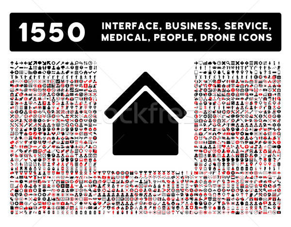 Home Icon and More Interface, Business, Tools, People, Medical, Awards Flat Vector Icons Stock photo © ahasoft