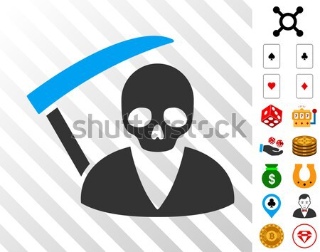 Deadly Manager Icon with Agriculture Set Stock photo © ahasoft